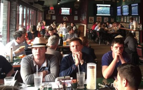 Family and fans gather at Rockwells to watch PMHS boys lacrosse team in state semi-final
