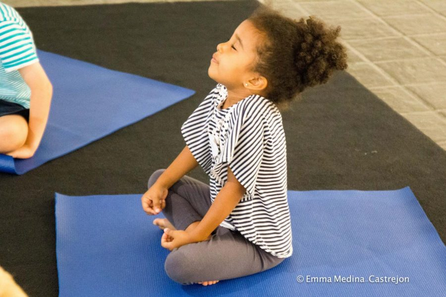 Three- to five-year-olds get mindful with yoga at Pelham Art Center camp