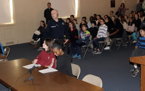 Pelham eighth graders participate in mock trial at town court