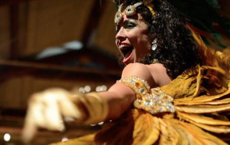 Brazilian Carnival performance and mask making at Pelham Art Center