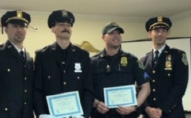 Four Pelham Police officers awarded Meritorious Police Duty medals