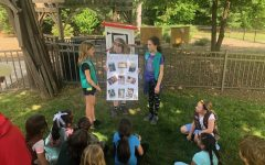 Hutch Junior Girl Scouts build and install Little Free Library in Wolfs Lane Park